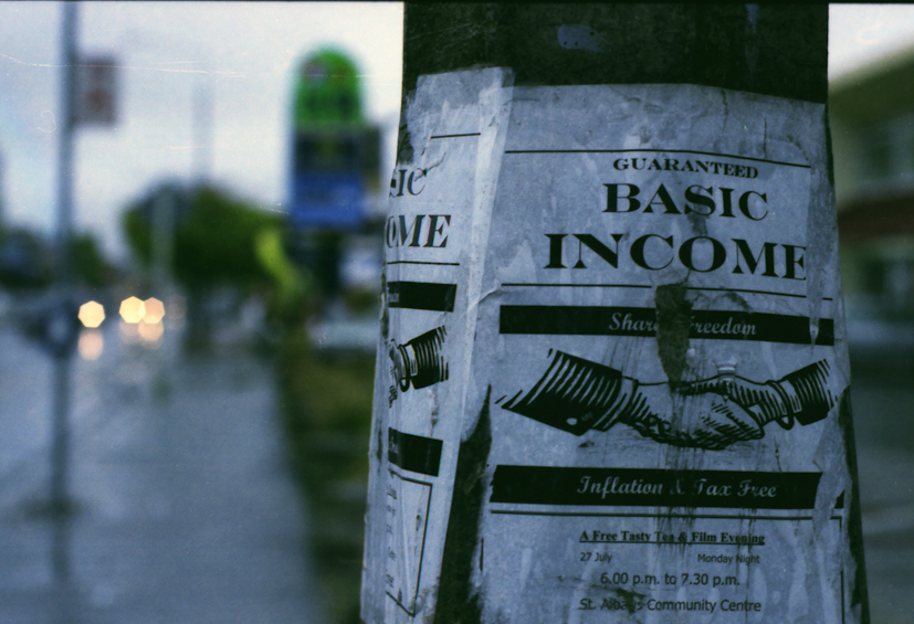 Basic income. photo credit: Christopher Andrews - flikr creative commons