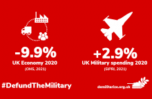 Image credit: The Global Campaign on Military spending www.demilitarize.org.uk